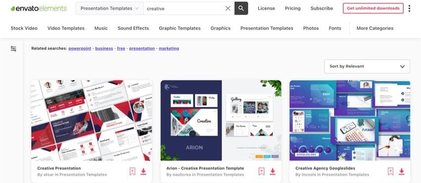 Envato Elements Search Image