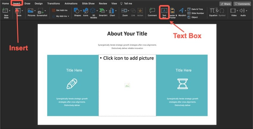 How to add text.