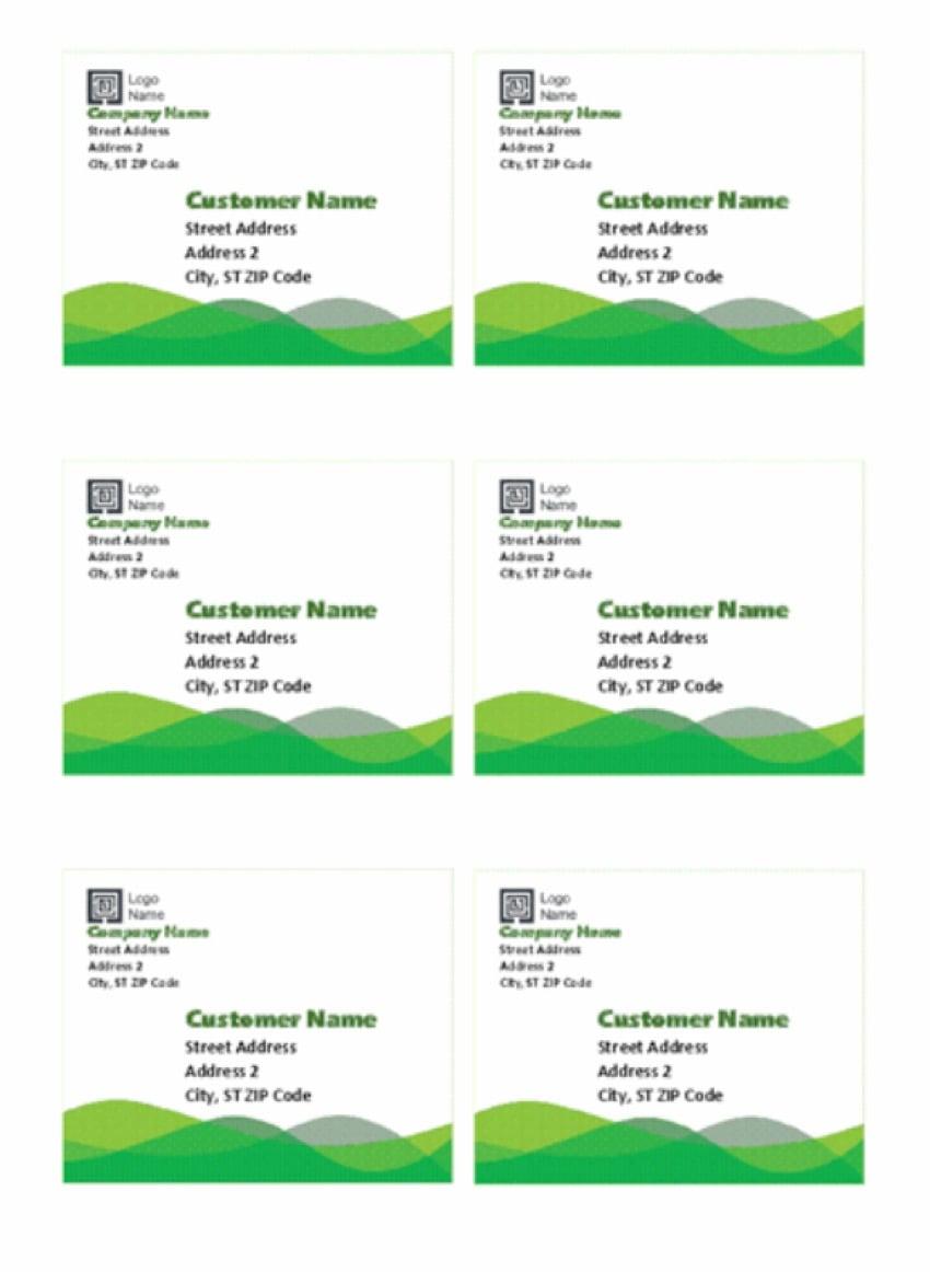 Green Wave design labels