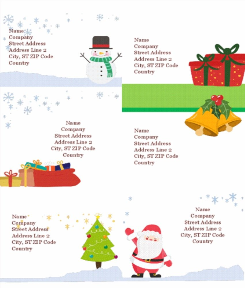Holiday shipping labels