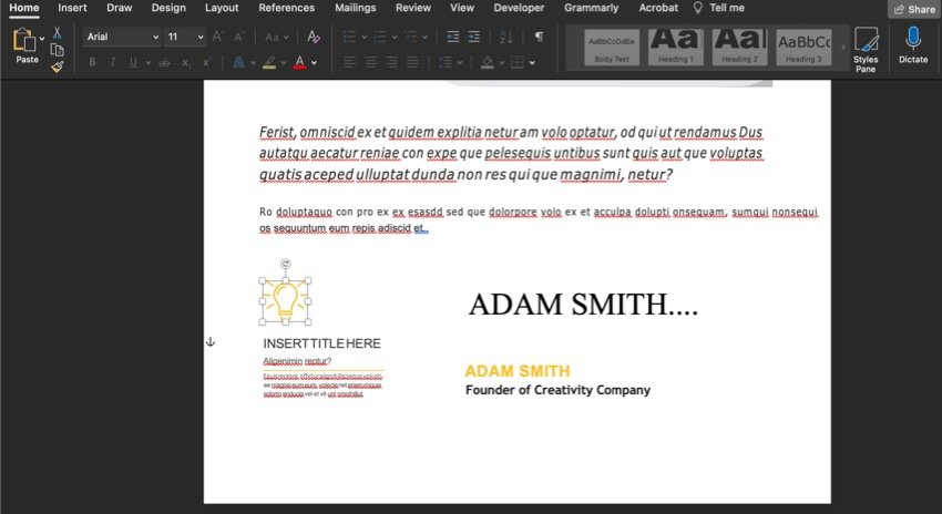 How to delete an object in your premium annual report template