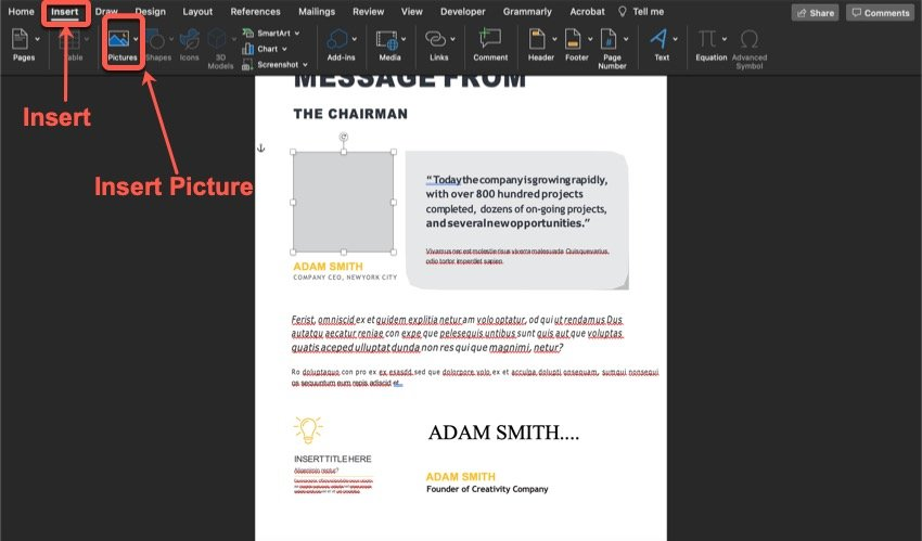 How to add an image to your premium annual report template