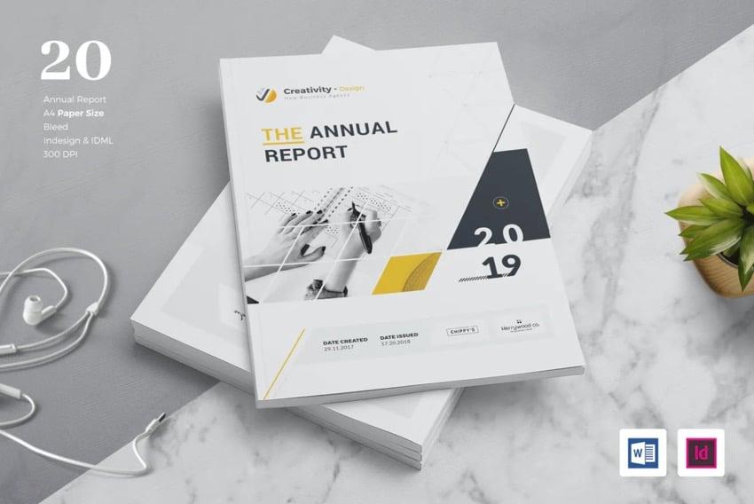 Microsoft Word annual report template