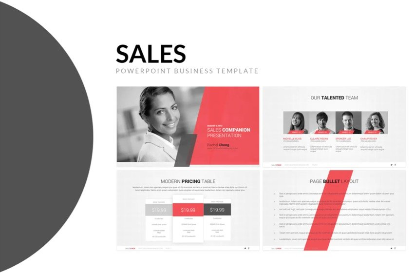 This premium sales presentation can be found on Envato Elements
