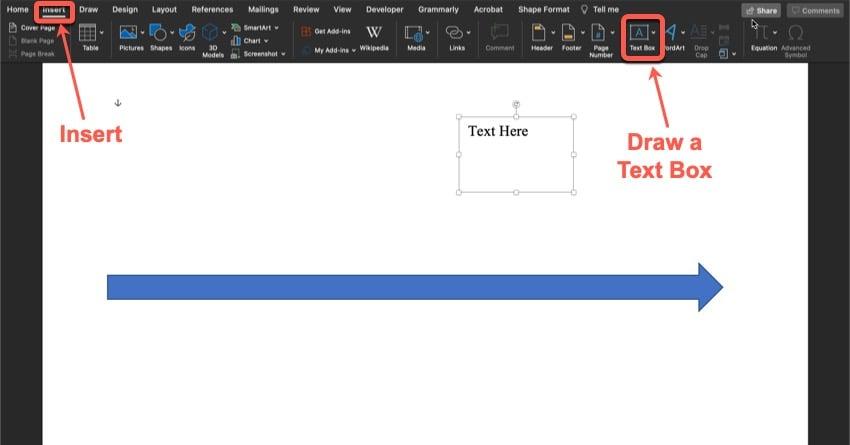 Create a text box