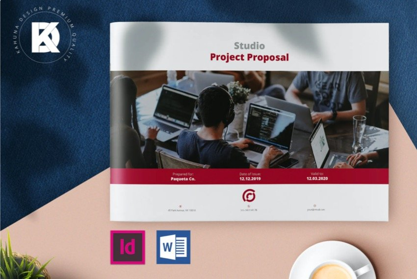 Premium Business template that a Microsoft Word timeline can be added to.
