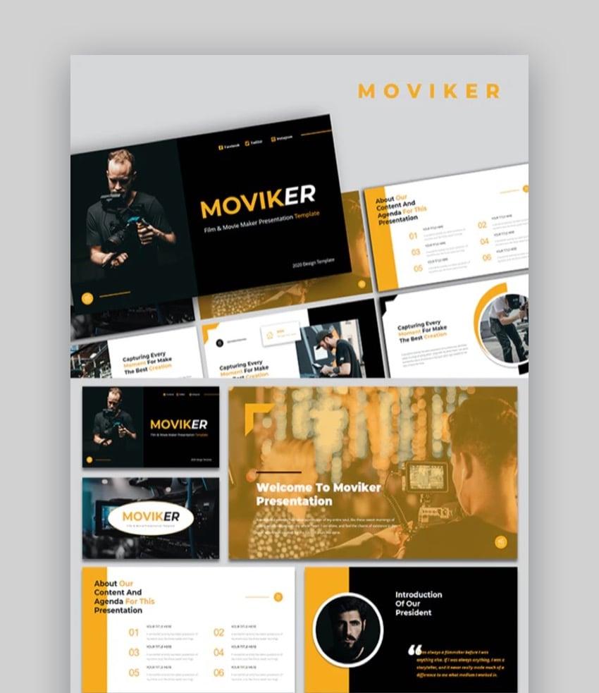 Moviker- Film & Movie Maker PowerPoint Template