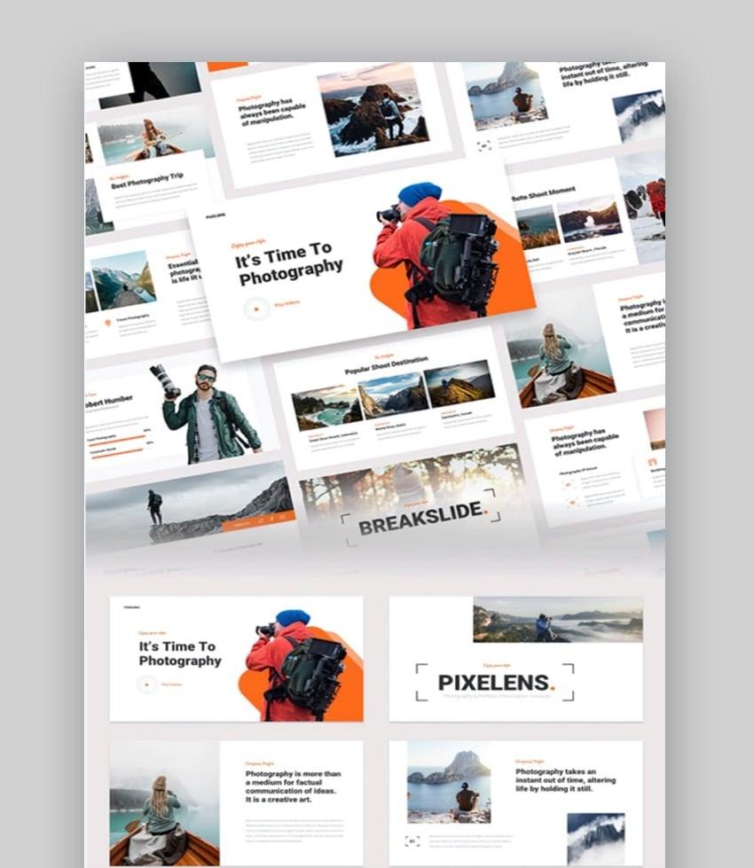 Pixelens - Photography & Portfolio PowerPoint Template