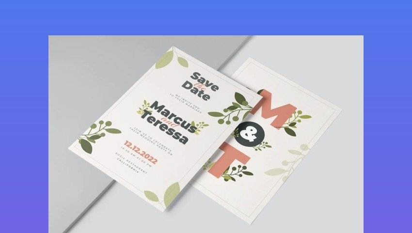Microsoft Word Flower Wedding Template