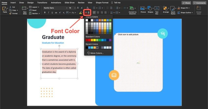 Change the Font Color