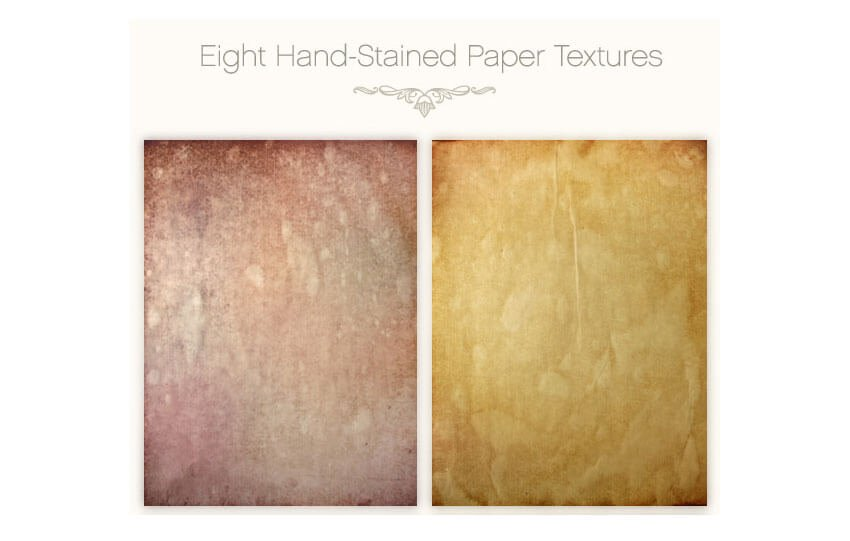 Hand Stained Paper Textures