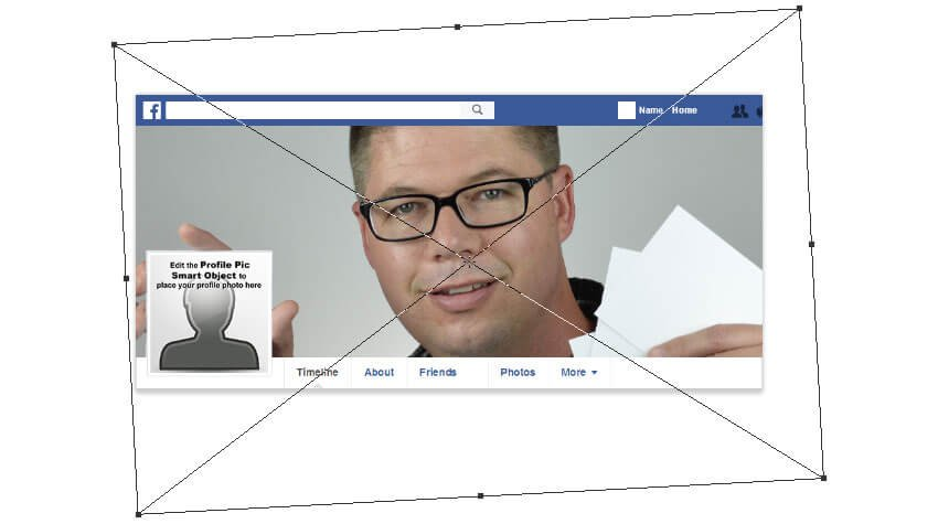 Transform the image to fit the position of the profile box