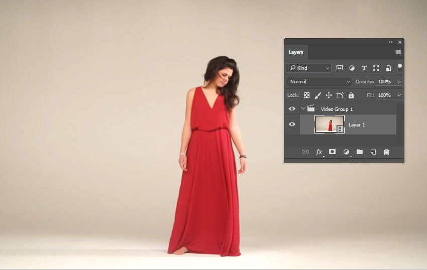 Open the video file in Photoshop
