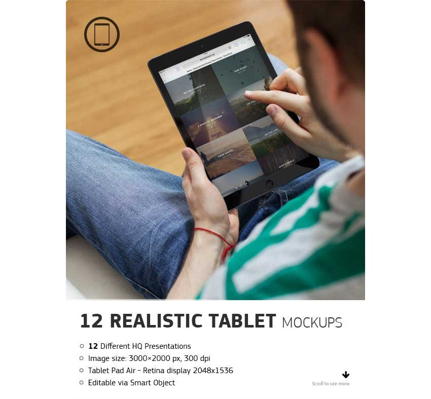 Realistic Tablet Mock-up