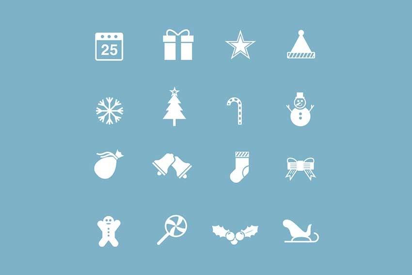 16 Festive Christmas Icons