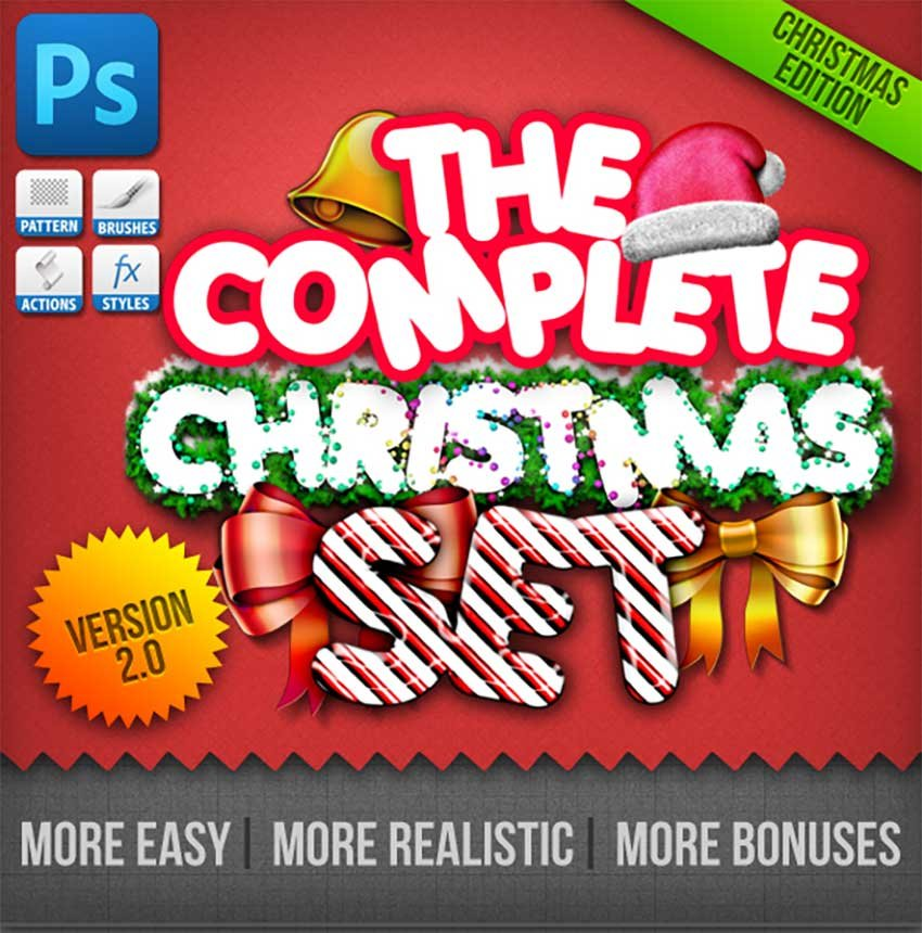 Christmas Generator Set Actions and Text Styles