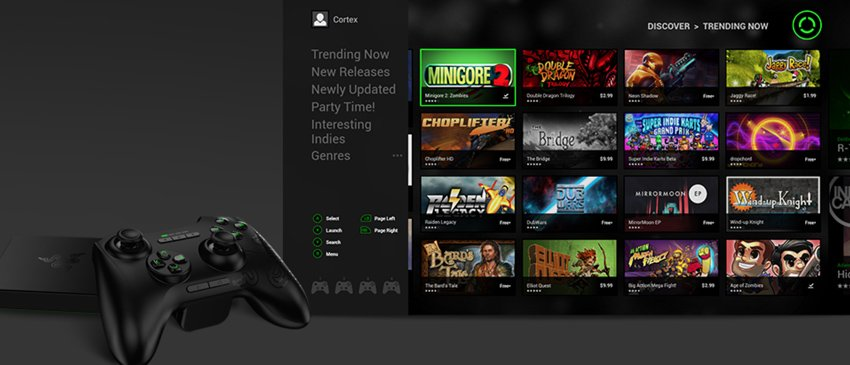 The Razer Forge Microconsole Controller and Storefront