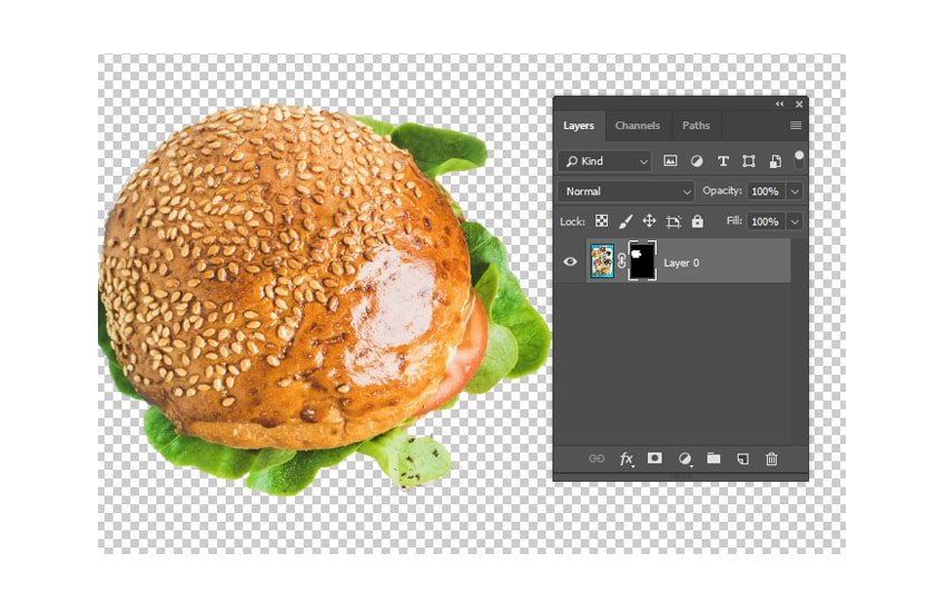 layer mask to remove background