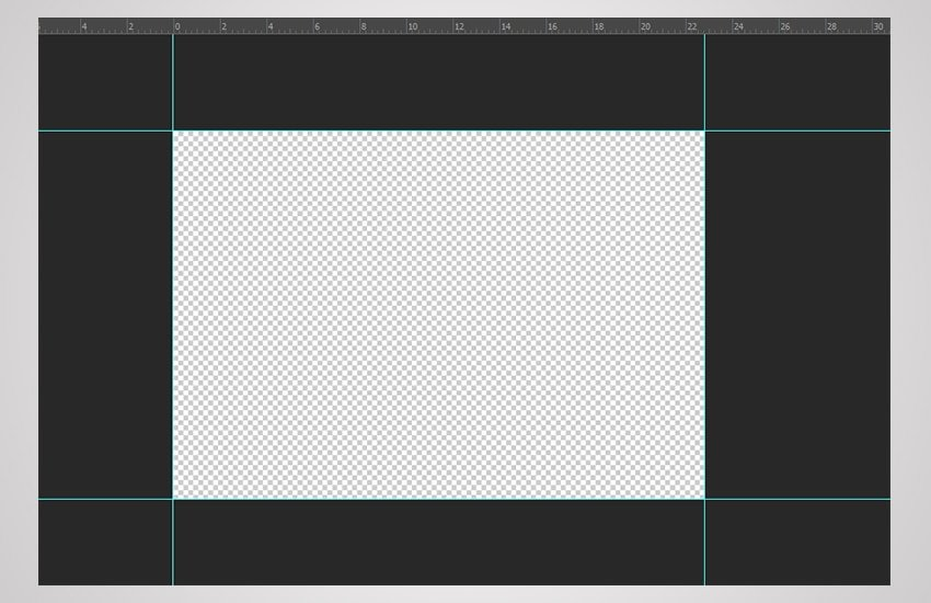 using guides in photoshop