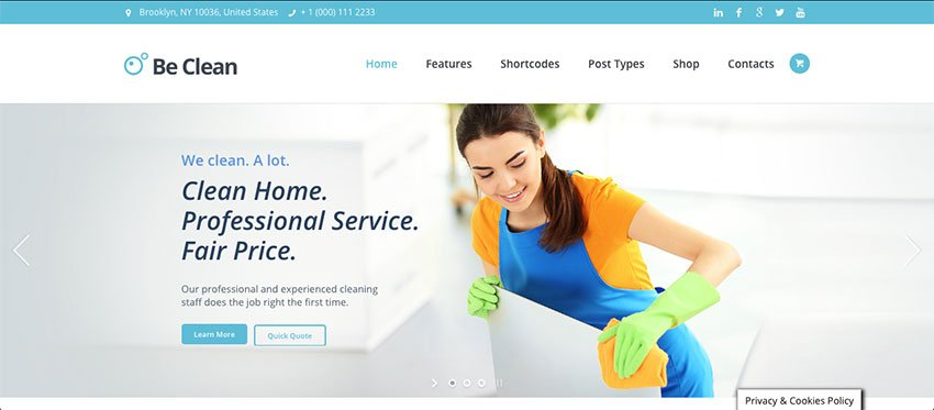 Be Clean - Maid Service Website Template