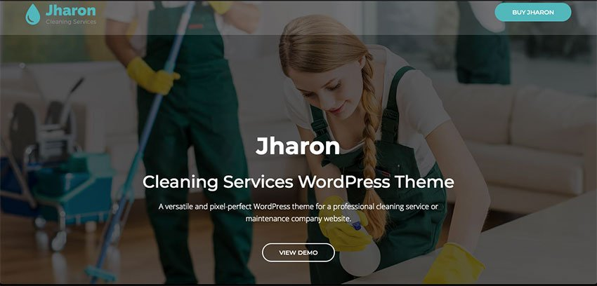 Jharon - Cleaning Website Theme