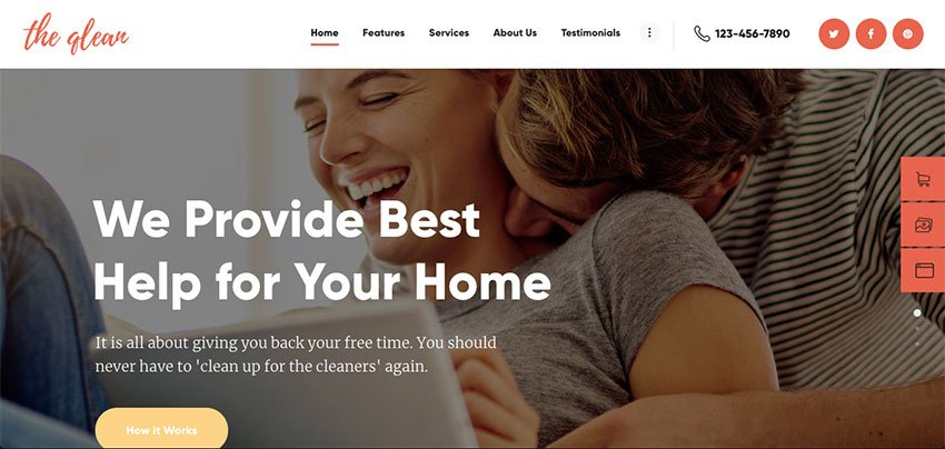 The Qlean Maid Service Website Template