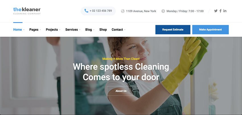 The Kleaner - Cleaning Website Theme