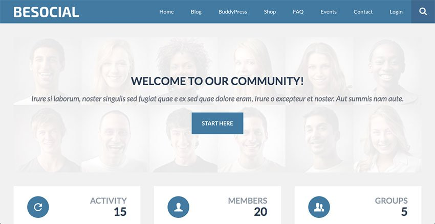 Besocial - BuddyPress Social Network Community WordPress Theme