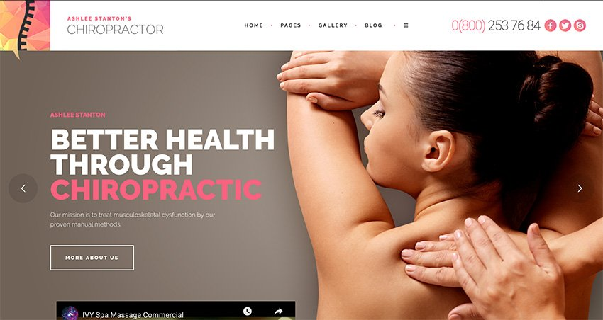 Chiropractor - Therapy and Rehabilitation WordPress Theme