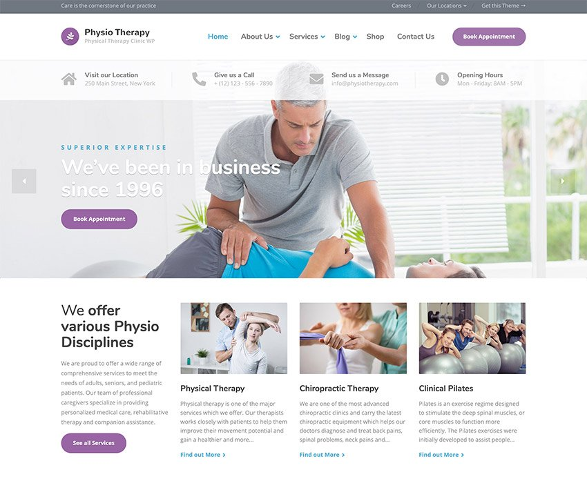 Physio - Physical Therapy  Medical Clinic WP Theme