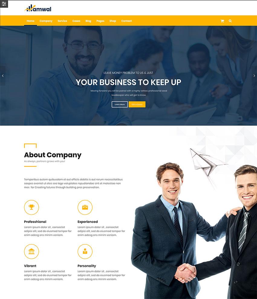 Amwal  Consulting Finance WordPress Theme