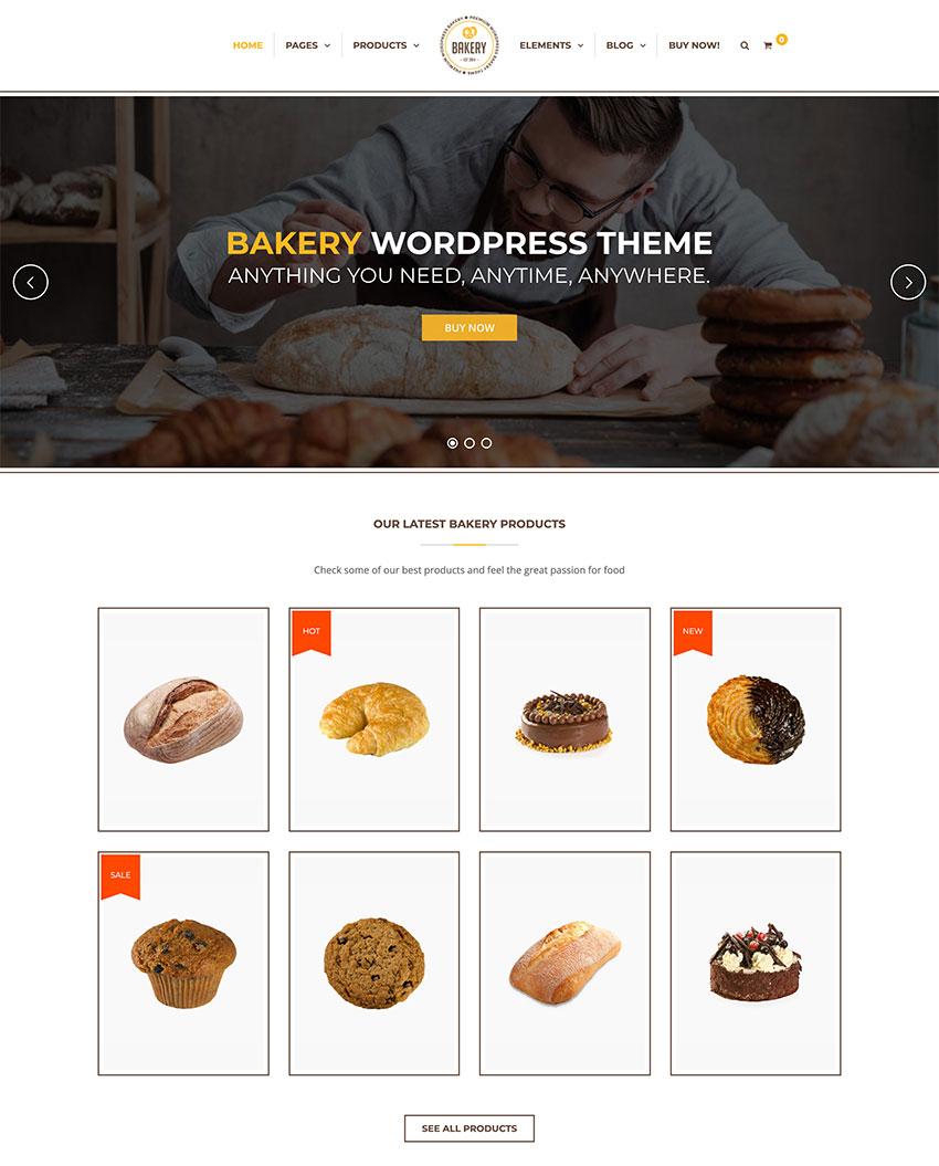 Bakery  WordPress Cake  Food Theme
