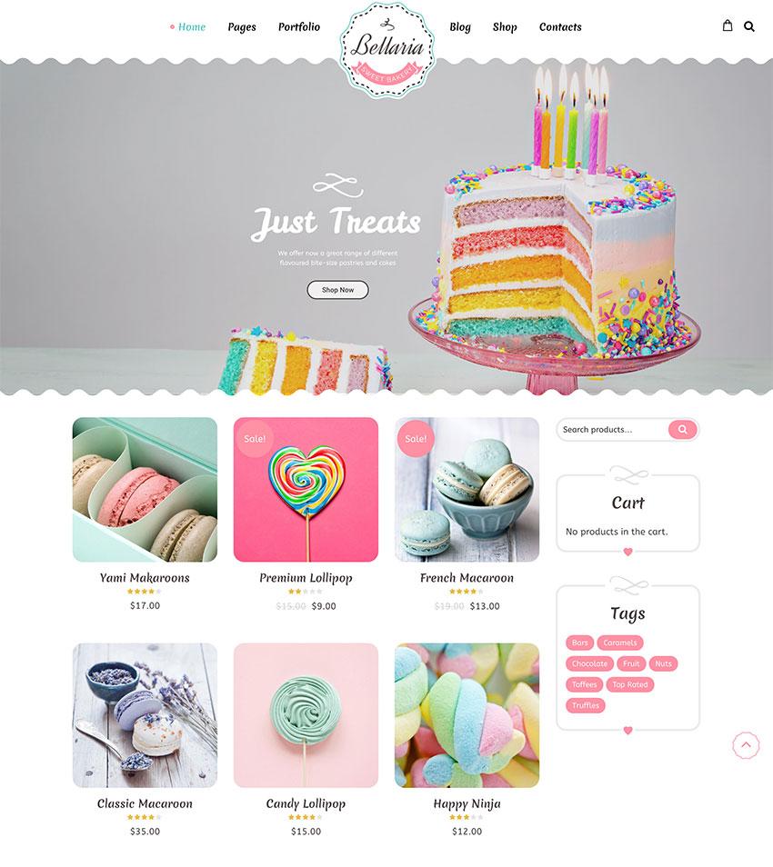 Bellaria - a Delicious Cakes and Bakery WordPress Theme