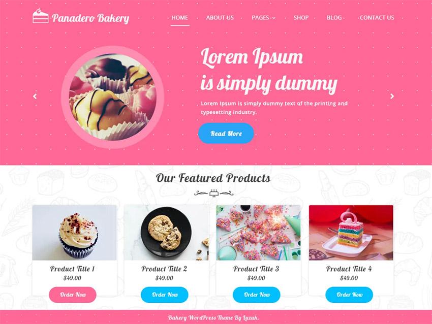 Panadero Bakery free WordPress theme