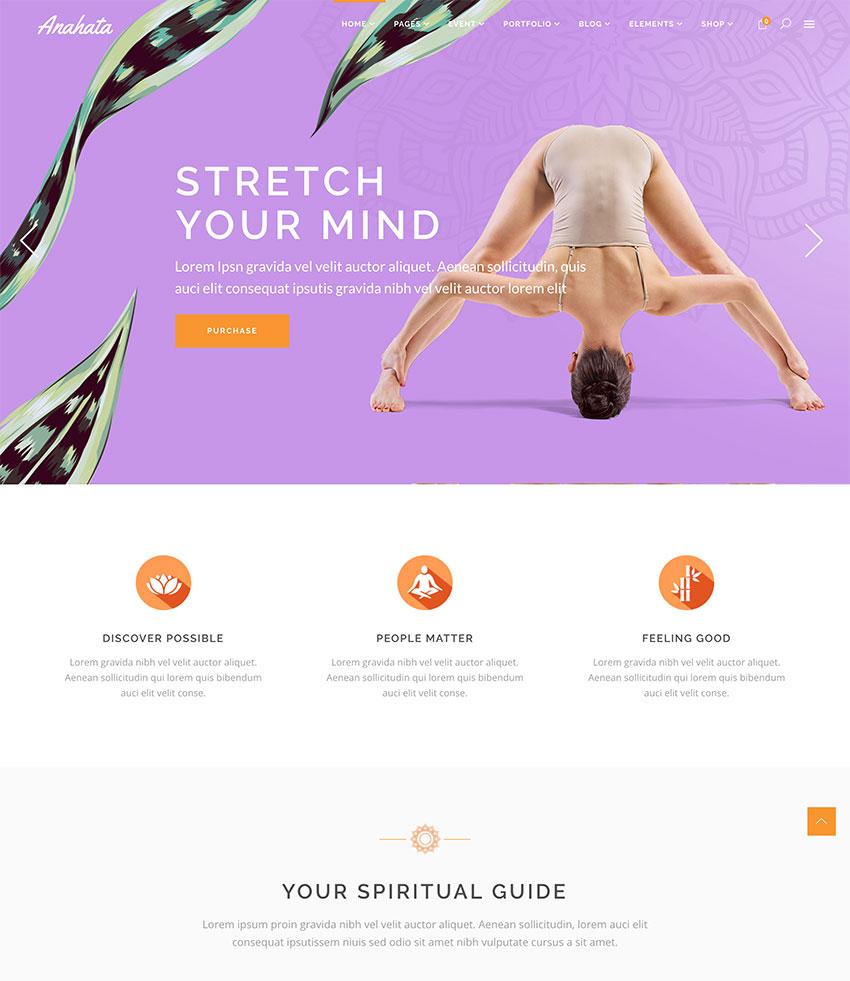 Anahata - Yoga Fitness and Lifestyle Theme