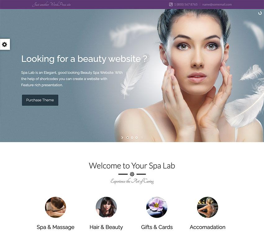 Spa Lab  Beauty Wellness WordPress Theme