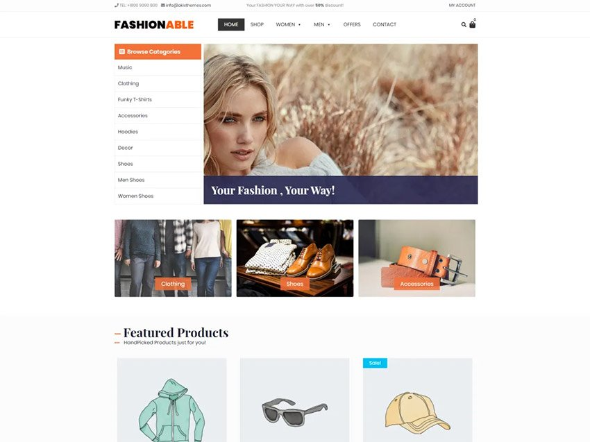 Fashionable Store Free WordPress Theme