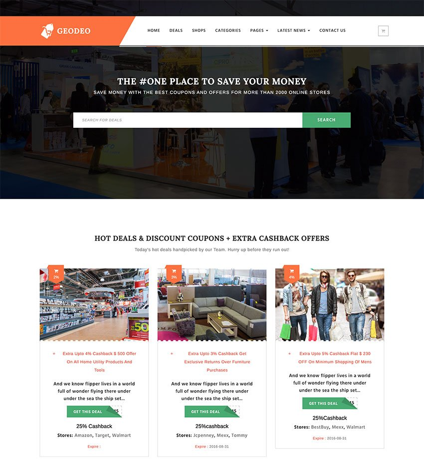 Geodeo - Coupons  Deals WordPress Theme