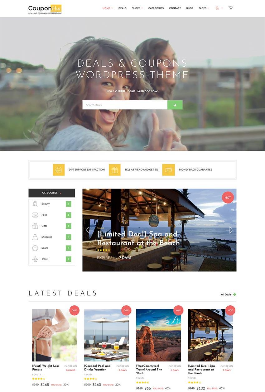CouponHut - Coupons  Deals WordPress Theme
