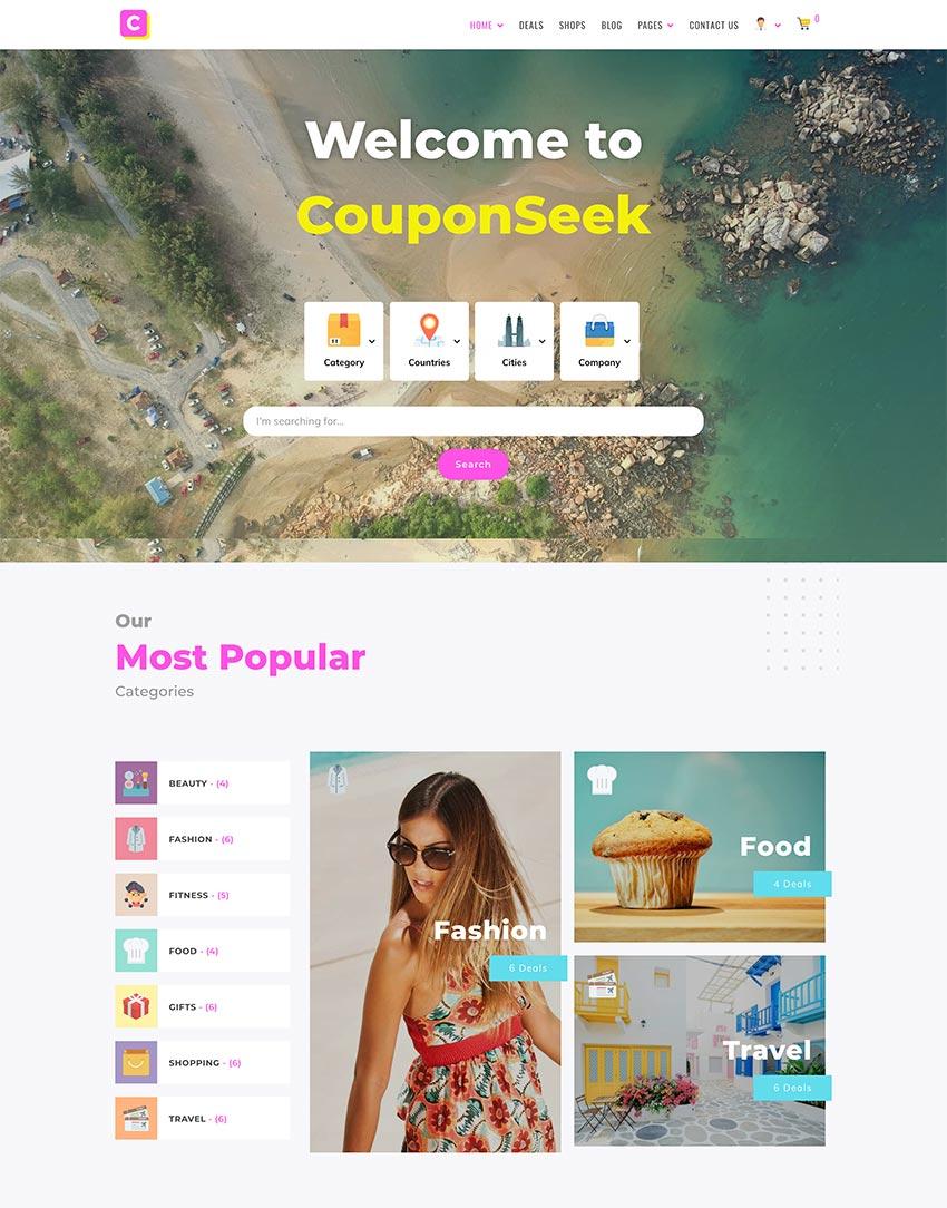 CouponSeek - Deals  Discounts WordPress Theme