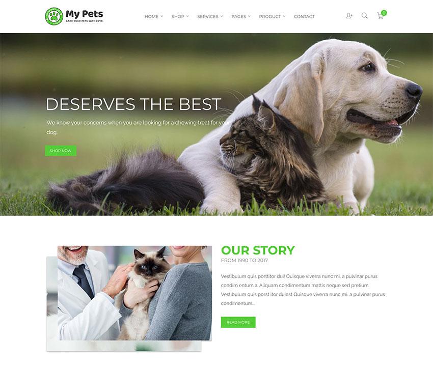 My Pets - Pet Sitter Pet Shop Animal Care Shopify Theme