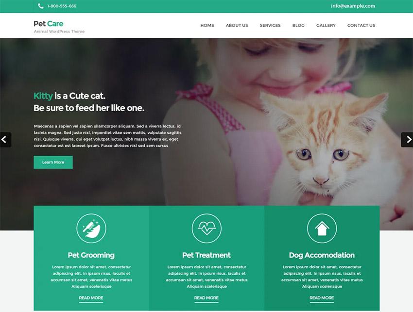 Petcare Lite Free Pet WordPress Theme