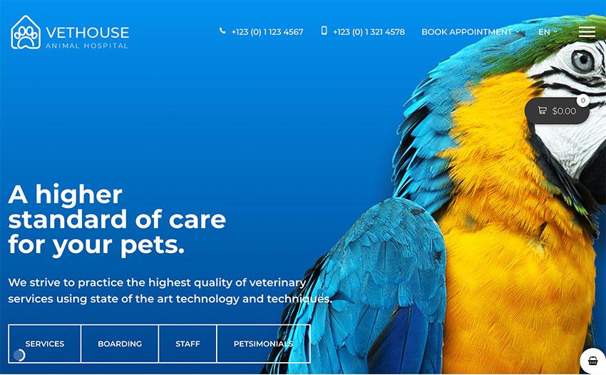 Vethouse - Pet Care  Veterinary Theme