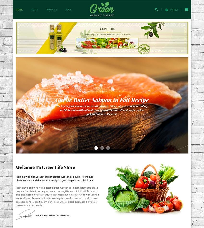 GreenLife - Responsive Shopify Theme Organic Fresh Food Farm Store