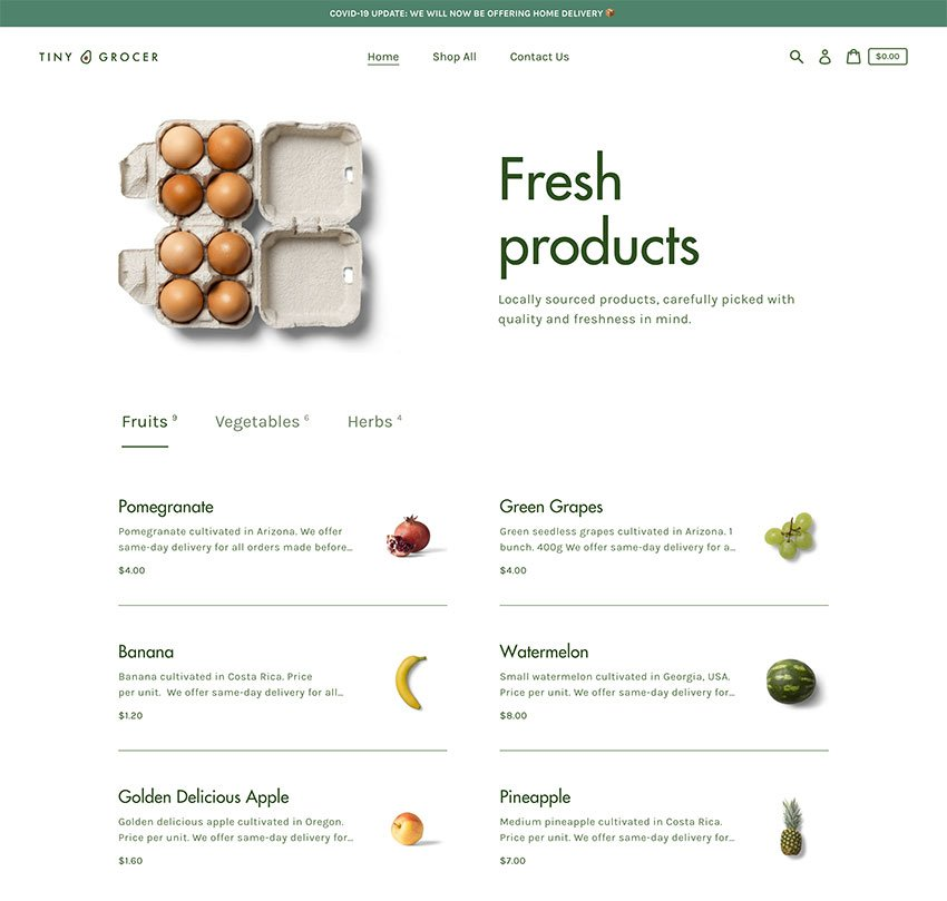 Express Grocery Shopify Theme Template Free