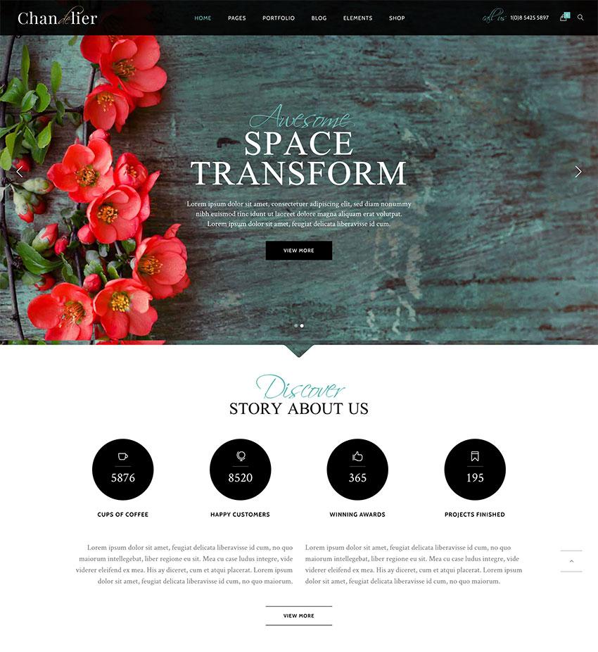 Chandelier - Luxury Theme for Custom Brands