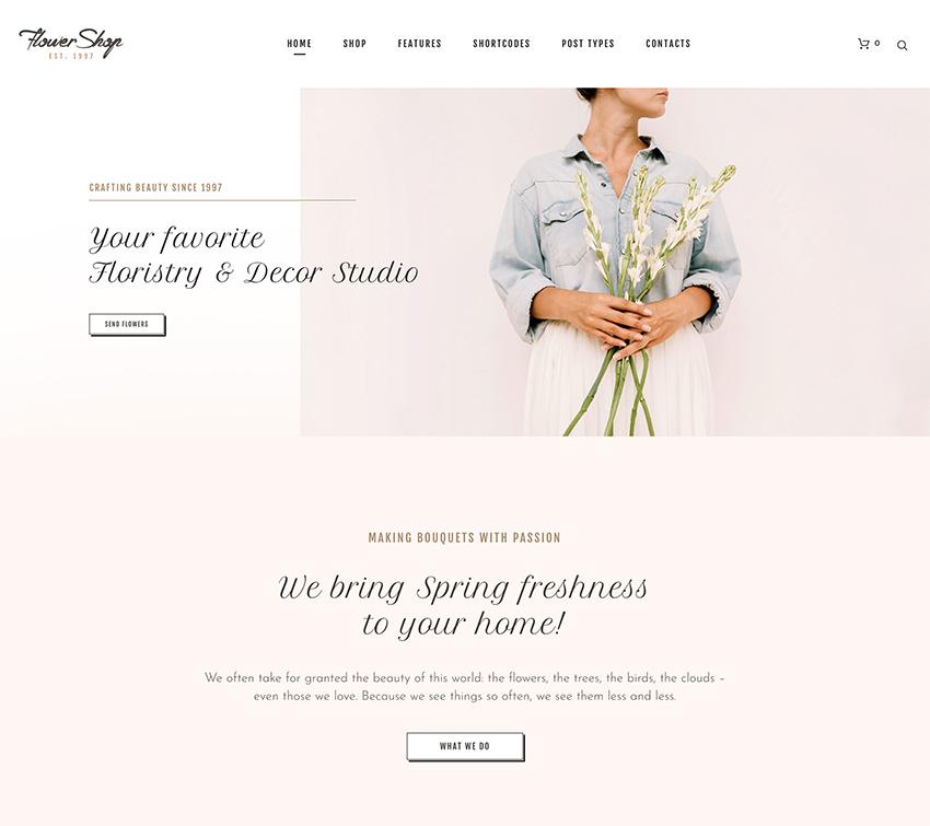 Flower Shop - Florist Boutique  Decoration Store WordPress Theme