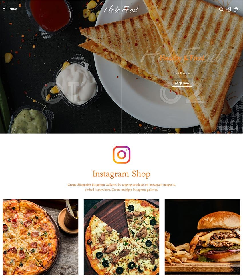 HoloFood - Fast Food Restaurant Shopify Theme