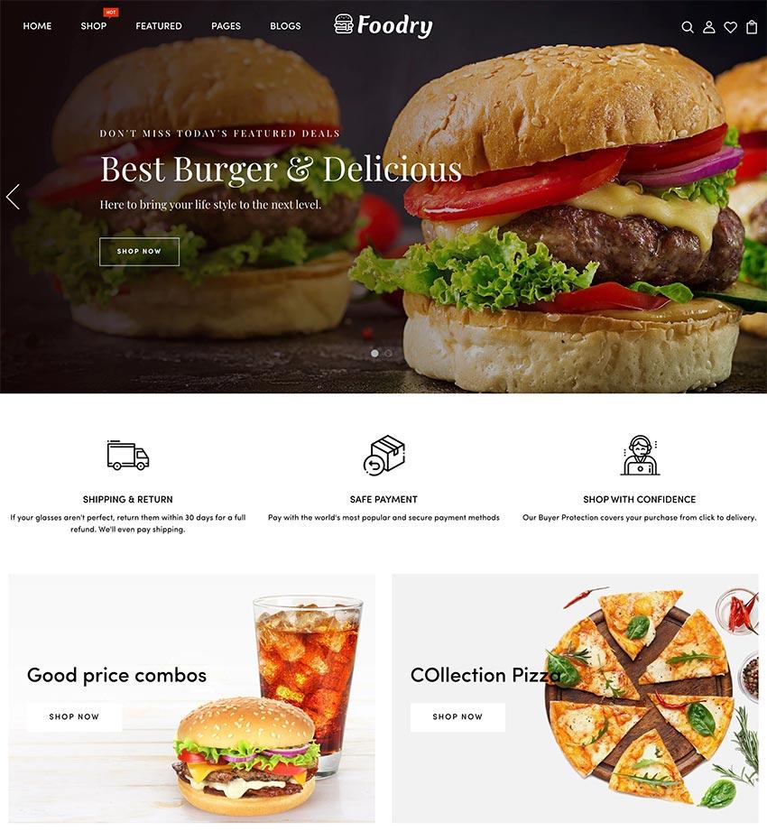 Foodry - Fast Food Restaurant Responsive Shopify Theme