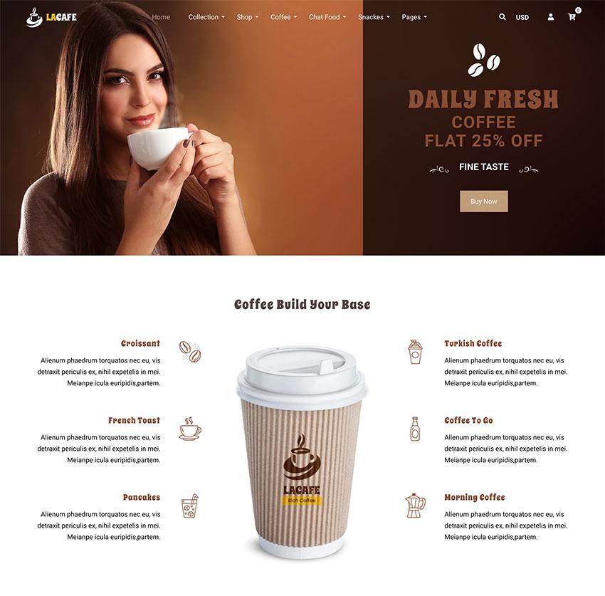 La Cafe Coffee Shop Shopify Theme